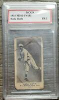 Rare 1916 Babe Ruth Baseball Card RP Graded