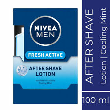 Nivea Men Fresh Active Aftershave Lotion 100ml Cooling Mint Soothes Irritation