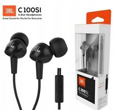 JBL C100SI Mega Bass Black in-ear earphones headphones 3.5mm connection