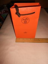 NEW HERMES PAPER SHOPPING BAGS 7.75 X 5.0 X 3.25 LOT OF 3