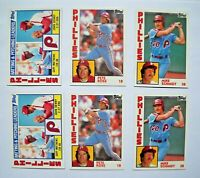 1984 Topps Philadelphia Phillies Team Set Lot (2 Sets, 29 Cards Each) MINT