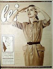 * lei N° 34/ 19/AGO/1952 * Rivista di moda *