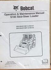 Bobcat S185 Skid Steer Operation & Maintenance Manual Operator/Owners 5 #6987011