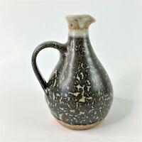 "Studio Handcrafted Art Pottery 6"" Cruet Jug Handled Vase Signed S.E. PNW"