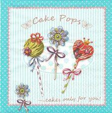 2 Serviettes papier Sucettes Bonbons 3D Decoupage Paper Napkins Cake Pops