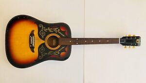 Beautiful Vintage 1970s Kay K310 Dreadnought Sunburst Acoustic Guitar