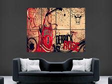DERRICK ROSE BASKETBALL LEGEND ART IMAGE HUGE  LARGE PICTURE POSTER