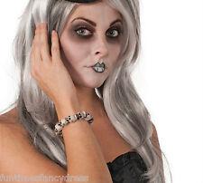 Halloween Gothic Skull Calaveras Pulsera De Cuentas Disfraz Vestido de lujo de un tamaño