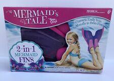 Mermaid Fins A Mermaid's Tale 2 in 1 Mermaid Swim Pool Fins Size 1-4 Ages 6+