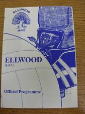 16/03/1985 Ellwood v Cinderford Town  (Excellent Condition)