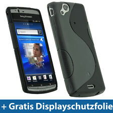 Schwarz TPU Tasche für Sony Ericsson Xperia Arc S Android Gel Skin Schutz Hülle