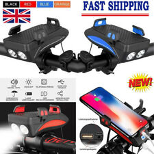 Bike Light Mobile Phone Bracket Riding Front Light Speaker LED USB Support Stand