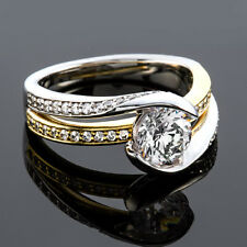 Solitaire 1.60 Carat Round Diamond F/SI Real Engagement Ring Yellow Gold