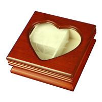 The San Francisco Music Box Company Heart Window Musical Jewelry Box