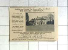 1935 Norfolk Broads, The Hollies, Strumphaw For Sale With 5 Acres