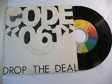 """CODE 061""""DROP THE DEAL- disco 45 giri CGD Italy 1987"""" RARO"""