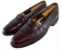Allen Edmonds Mens Burgundy Devonshire Kiltie Loafers Dress Shoes Size US 10.5 B