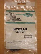 NTE948 ECG948 SK9173 LM348 RC4156 MC4741CP UA348DC IC Quad Op Amp NEW
