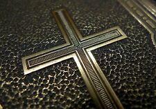 Latin Cross Victorian Letterpress printing block, bronze, 19th Century, Adana