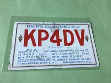 More details for vintage qsl radio communication card 1947  puerto rico  ref 52882