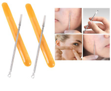 Set di 2 strumenti pulizia rimozione estrattore punti neri acne brufoli comedoni