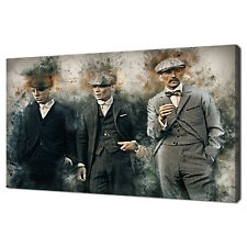 PEAKY BLINDERS BIRMINGHAM GANGS GRUNGE DESIGN CANVAS PRINT WALL ART PICTURE