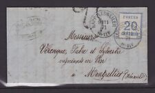 Alsace-Lorraine n°6 sur lettre de Ribeauvillé pour Montpellier, 1871, TTB !!!