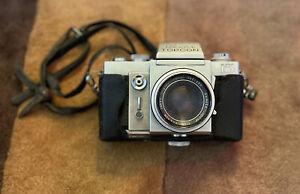 Topcon Beseler Super D 35mm Camera w/ RE Auto Topcor f=58mm 1:1.8 Tokyo Lens