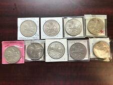 1935 Great Britain 9 Silver Crown Coins Excellent AU to BU Condition high value