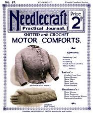 Needlecraft Practical Journal #69 c.1908 Vintage Fashion Knitting Patterns