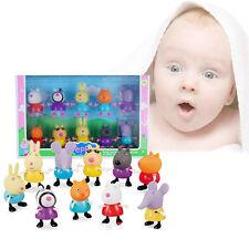 10PCs/Lot Peppa Pig Friends Suzy Emily Danny Rebacca Figure Toys Gifts New