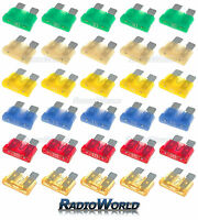 30 Assorted Car Automotive Standard Blade Fuse Fuses 5 10 15 20 25 30 AMP