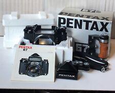 【RARE ALMOST MINT】 Pentax 67 6x7 TTL Medium Format Camera w/ Wood #856