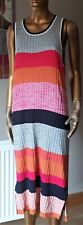 Next Multi Coloured Knitted Maxi Dress Size 20 Petite BNWT Colour Block
