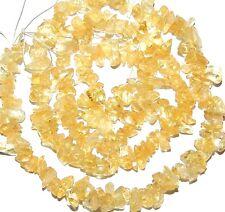 "NG1329f Yellow Citrine 4mm Mini-Chip Nugget Gemstone Beads 16"""