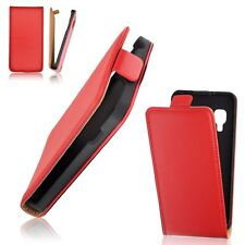 Pouch Cover Flip Pocket Case Slim Flip Leather Case Leather PU Red Case Cover