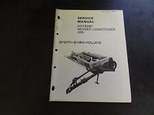 New Holland 495 Haybine Mower-Conditioner Service Manual