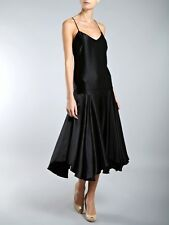 Fab New Lauren Ralph Lauren Sleeveless Black Silk V-neck Shift Dress, XS