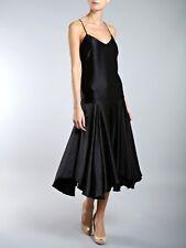 Fab New Lauren Ralph Lauren Sleeveless Black Silk V-neck Shift Dress, XS