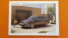 Seat Toledo SE Style Advanced paper car brochure sales catalogue June 2016 MINT