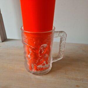 """Batman &"""" Robin"""" Forever McDonalds Cup / Mug Vintage 1995 / Frosted Glass.Robin."""