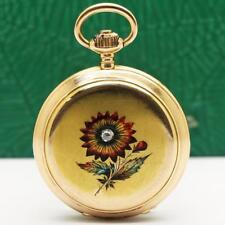 1889's LONGINES 18K SOLID GOLD ENAMEL CASE PENDANT & POCKET WATCH