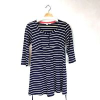 Boden Womens Navy Striped Knit Dress Casual 3/4 Sleeves Nautical UK 8 US 4