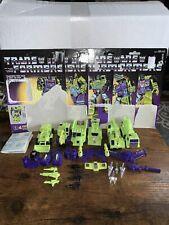 Transformers G1 Devastator Complete Good Condition 5/6 cardbacks & Instructions