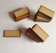 10 X rectangle Bases 3 Mm Laser Cut Mdf 75 Mm X 50 Mm Wargames bolt action