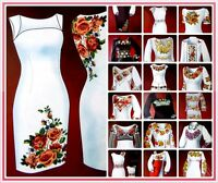 Cross stitch and Sewing Pattern for Ukrainian Embroidered Blouse - Vyshyvanka SD