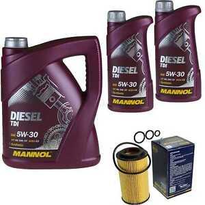 Ölwechsel Set 7L MANNOL Diesel TDI 5W-30 API Motoröl + SCT Filter KIT 10196082