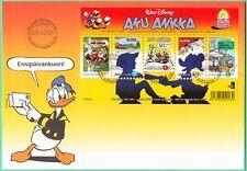 Walt Disney Donald Duck Sheet Official Finland FDC 2001