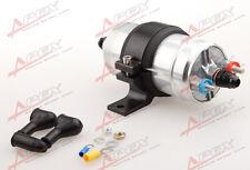 External Fuel Pump 044 For Bosch+Billet Bracket Black+10AN Inlet 8AN Outlet BLK