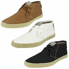 Mens Black Lace Up Base London Canvas Shoes LILO